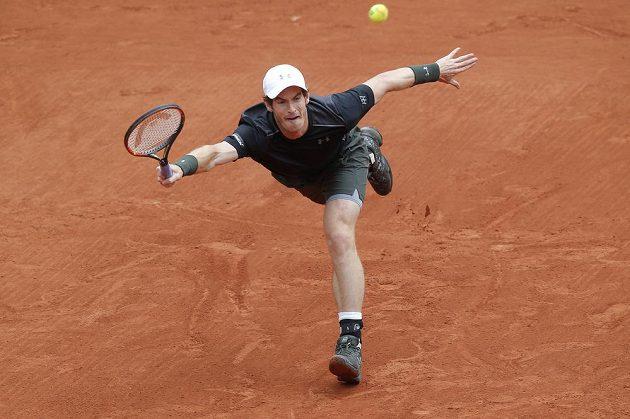 Brit Andy Murray při utkání s Radkem Štěpánkem.