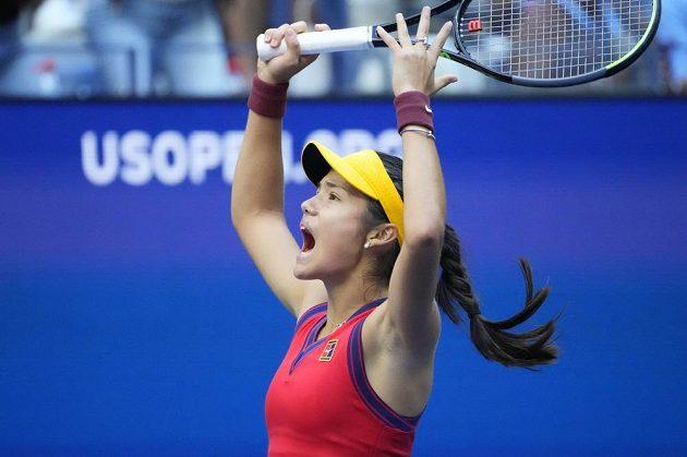 Emma Raducanuová při finále US Open.