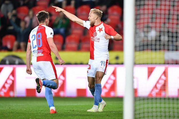 Mick van Buren nahrál na třetí gól Slavie