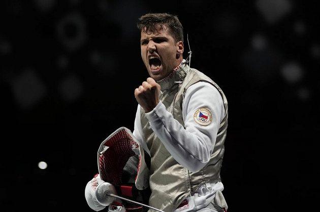 Alexander Choupenitch po výhře nad Carlosem Llavadorem ze Španělska.