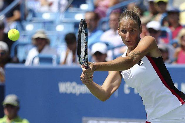 Karolína Plíšková během finále turnaje v Cincinnati.