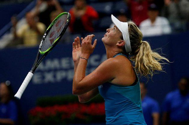 Radost CoCo Vandewegheové po postupu do semifinále US Open.