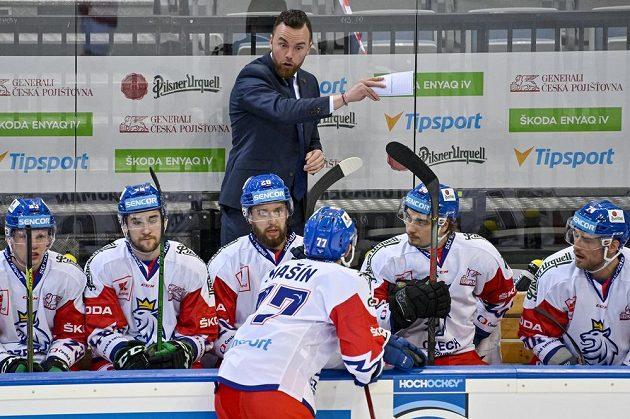 Trenér českého týmu Filip Pešán.