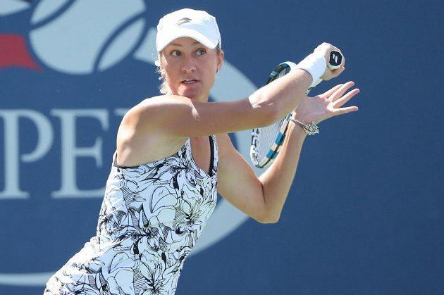 Česká tenistka Denisa Allertová v prvním kole US Open proti Aně Ivanovičové.