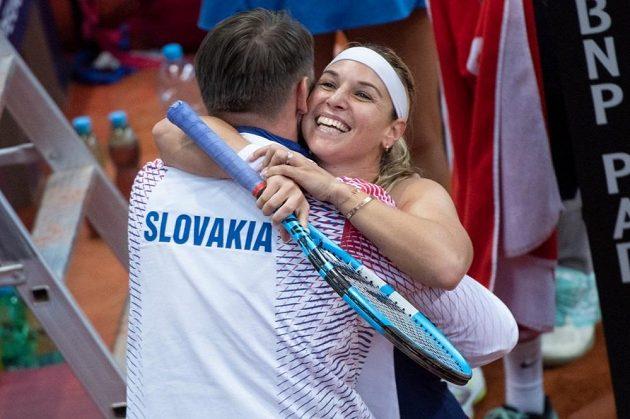 Dominika Cibulková slaví své další fedcupové vítězství