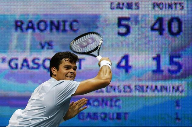 Milos Raonic, finálový soupeř Tomáše Berdycha.