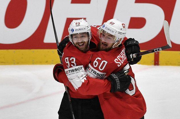 Švýcarská radost v zápase s Českem.