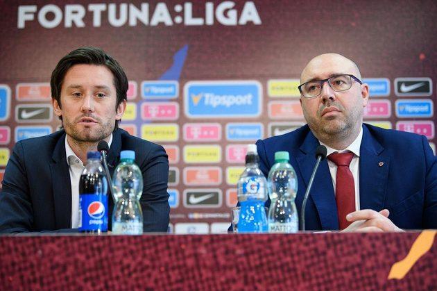 Sportovní ředitel Sparty Praha Tomáš Rosický (vlevo) a generální ředitel František Čupr.