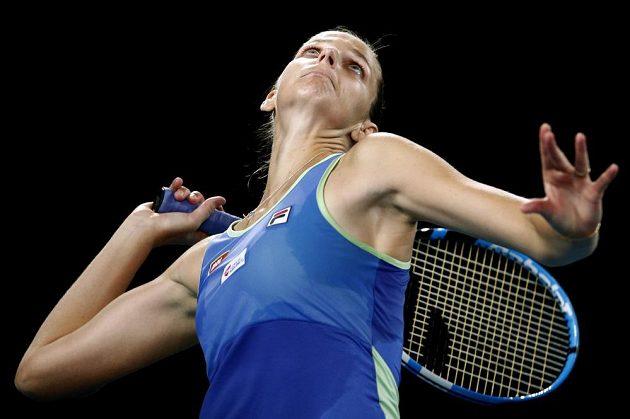 Česká tenistka Karolína Plíšková v akci během Australian Open.