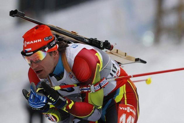 Sprint mužů, na snímku Čech Zdeňek Vítek.