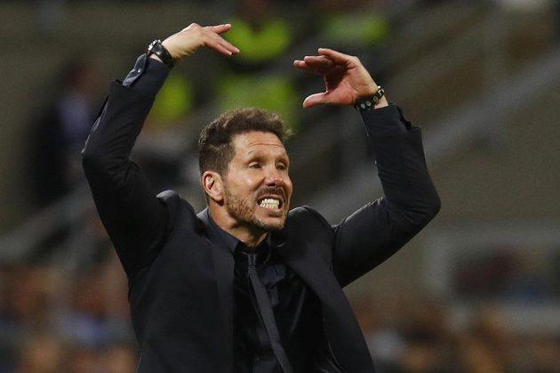 Kouč Atlétika Madrid Diego Simeone během finále Ligy mistrů.