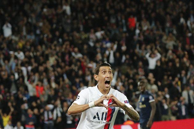 Ángel di María z PSG se raduje poté, co otevřel skóre proti Realu.