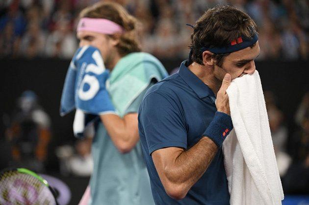 Dramatický duel mezi Tsitsipasem a Federerem trval téměř hodiny