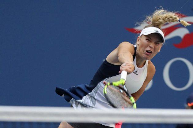 Caroline Wozniacká z Dánska porazila v osmifinále Madison Keysovou z USA.