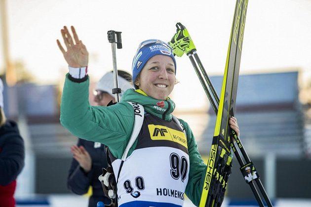 Franziska Preussová z Německa rozbila ve sprintu slovenské duo v čele výsledkové listiny a obsadila druhé místo.