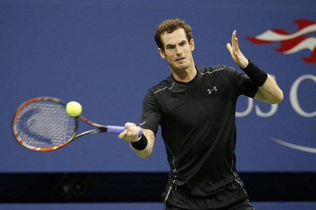 Britský tenista Andy Murray při zápase 3. kola US Open proti Brazilcovi Thomasu Beluccim.
