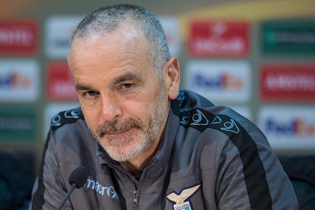 Trenér Lazia Stefano Pioli během tiskové konference před utkáním Evropské ligy se Spartou.