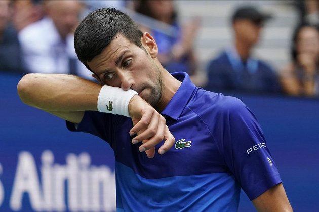 Srb Novak Djokovič nevstoupil do finále US Open dobře.