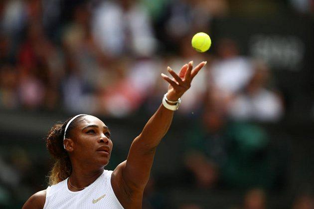 Serena Williamsová na podání