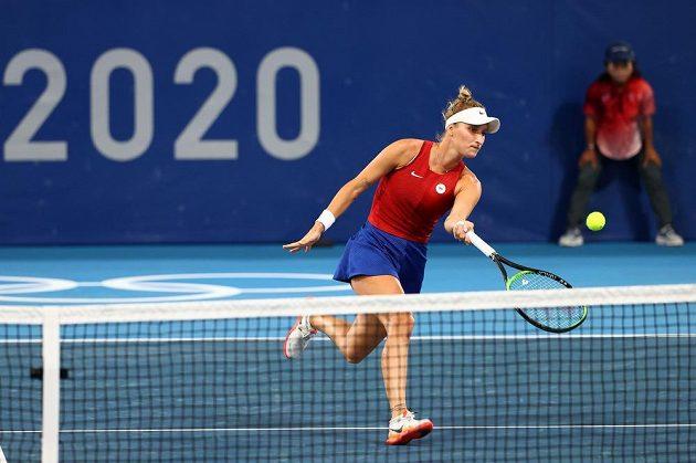 Česká tenistka Markéta Vondroušová v osmifinále olympijského turnaje v tenisu.