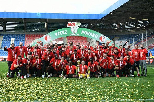 Slávisté po triumfu v domácím poháru.