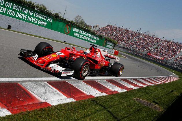 Sebastian Vettel na trati Velké ceny Kanady.