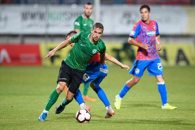 Marko Alvir z Příbrami během utkání 8. kola Fortuna ligy s Plzní.