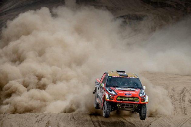 Martin Prokop s Fordem během testu v Peru před startem Rallye Dakar 2018.
