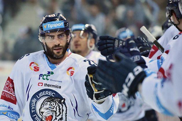 Autor druhého gólu Petr Jelínek z Liberce.