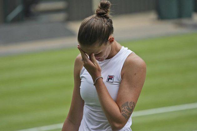 Karolína Plíšková při finále Wimbledonu