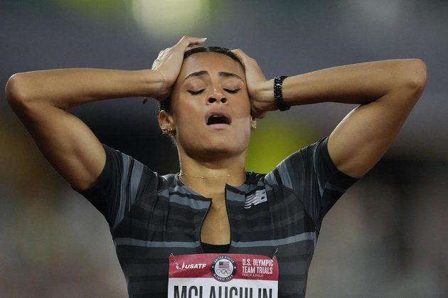 Úžasný výkon. Sydney McLaughlinová zaběhla na mistrovství USA v Eugene časem 51,90 nový světový rekord na 400 metrů překážek.
