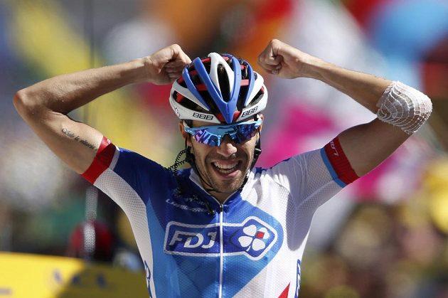 Francouzský cyklista Thibaut Pinot, vítěz poslední horské etapy letošního ročníku Tour de France.