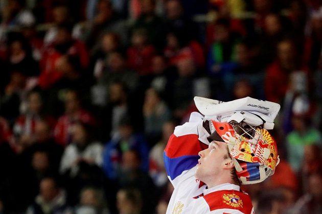 Ruský gólman Andrej Vasilevskij.