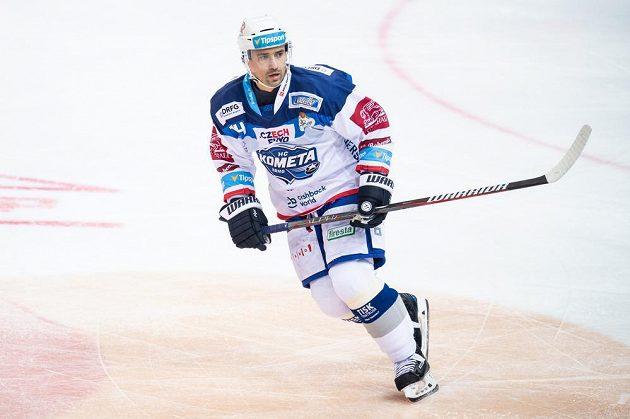 Útočník Komety Tomáš Plekanec během utkání na ledě Sparty.