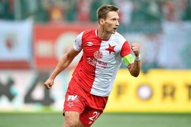Milan Škoda po vedoucím gólu Slavie v Mladé Boleslavi.