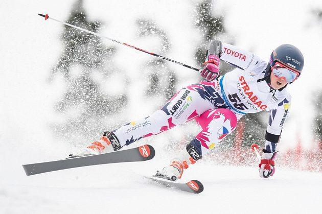 Kateřina Pauláthová během obřího slalomu ve Špindlerově Mlýně.