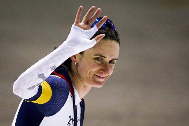 Martina Sáblíková po triumfu na 3000 m v Calgary.