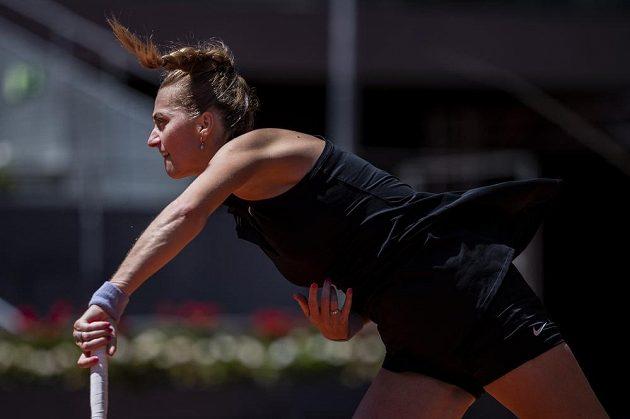 Česká tenistka Petra Kvitová v akci.