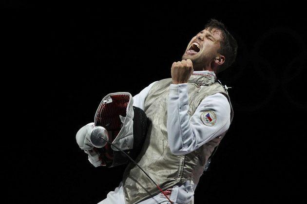 Alexander Choupenitch v emocích bezprostředně po zisku olympijského bronzu.