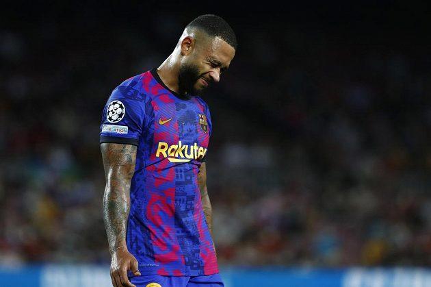 Barcelonský Memphis Depay po porážce s Bayernem na úvod Ligy mistrů