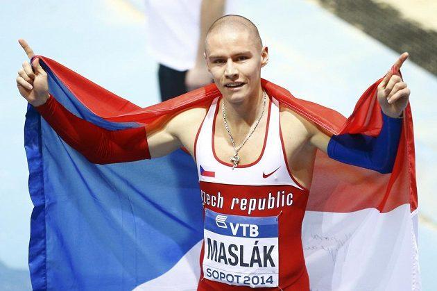 Pavel Maslák ovládl běh na 400 metrů a stal se halovým mistrem světa.