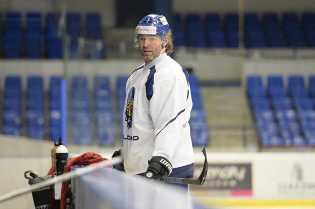 Jaromír Jágr trénoval znovu v Kladně s tamním týmem po svém návratu ze zámořské NHL.