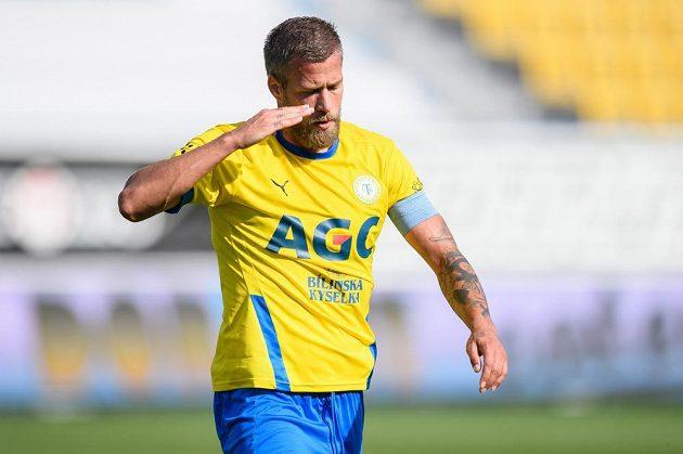 Jakub Mareš z Teplic během utkání 4. kola Fortuna ligy proti Jablonci