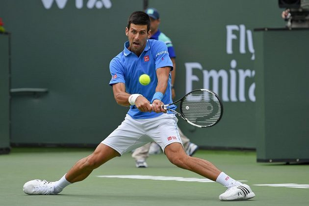 Novak Djokovič ve finále v Indian Wells.