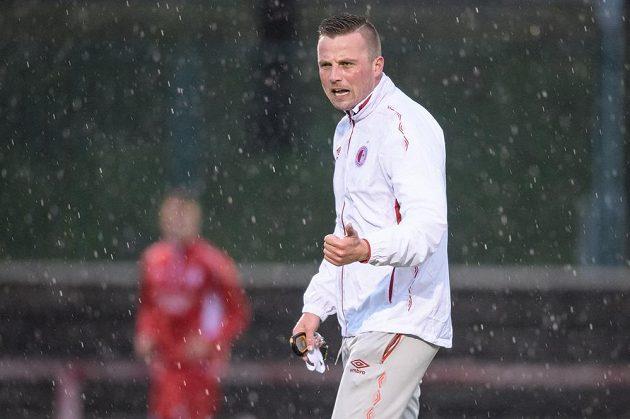 Asistent trenéra Slavie Praha Jaroslav Köstl během zahájení zimní přípravy.