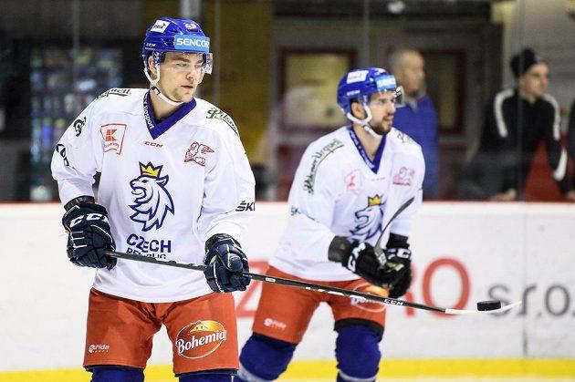 Radan Lenc během tréninku hokejové reprezentace před turnajem Beijer Hockey Games.