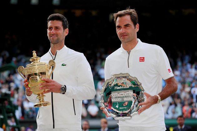 Novak Djokovič a Roger Federer předvedli ve finále úchvatné představení