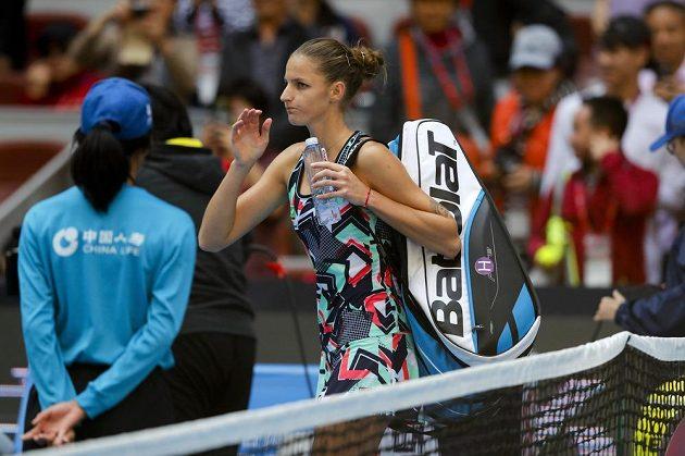Tenistka Karolína Plíšková vypadla na turnaji v Pekingu ve 3. kole a přišla o šanci vrátit se do čela světového žebříčku.