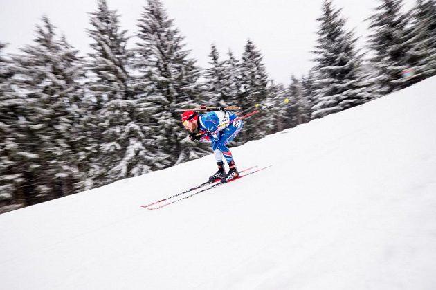 Michal Šlesingr si jede pro druhé místo ve trati sprintu v Oberhofu.