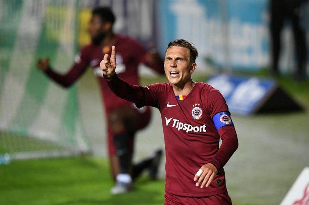 Sparťan Bořek Dočkal poté, co Letenští vstřelili vítězný gól v derby s Bohemians.